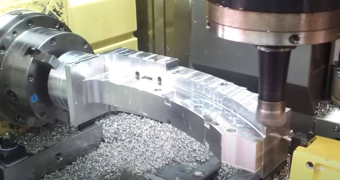 4-axis CNC machining